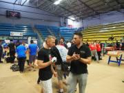 Romaric et Cyrille en pleine discussion tactique...