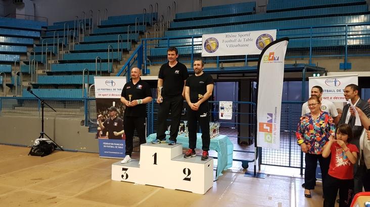 Podium Simple Elite: 1er MUSSET Cédric 2ème LOUNAS Farid 3ème BLANCHARD Jean-Marie