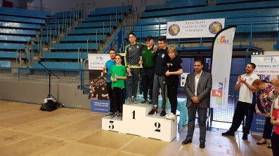 podium du double Juniors: 1er ROBIN - TOURMENTE 2ème MAGRON -LALANDE 3ème FOLLOT - DELALANDE
