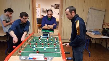 Jonathan PAQUET (Sennecey) face à Philippe DELAROSE (BFC) sous le regarde de Eric ARDITTI (Besançon)